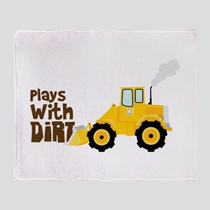 Plays With Dirt Throw Blanket