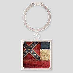 Wooden Mississippi Flag3 Keychains