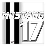 mustang 2017 Square Car Magnet 3