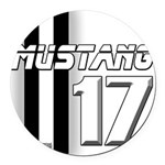 mustang 2017 Round Car Magnet