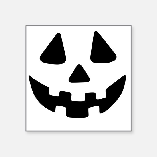 "Jack OLantern Square Sticker 3"" x 3"""
