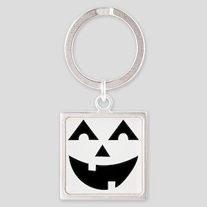 Laughing Jack O'Lantern Square Keychain