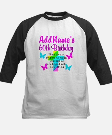 GOD LOVING 60TH Kids Baseball Jersey