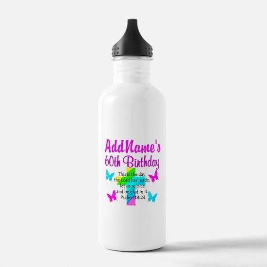 GOD LOVING 60TH Water Bottle