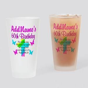 GOD LOVING 60TH Drinking Glass