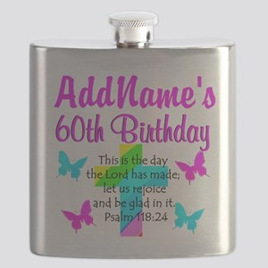 GOD LOVING 60TH Flask