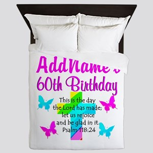 GOD LOVING 60TH Queen Duvet