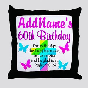 GOD LOVING 60TH Throw Pillow