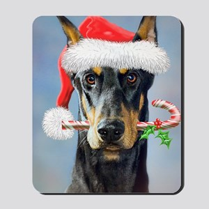 Doberman Christmas Mousepad