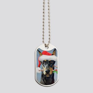 Doberman Christmas Dog Tags