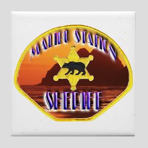Malibu Sheriff Tile Coaster