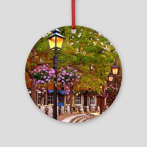 Market Square coaster tile 4of4 Round Ornament