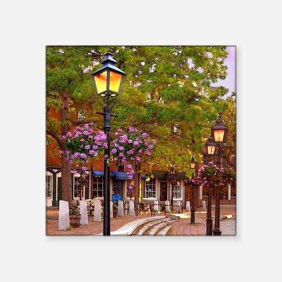 """Market Square coaster tile  Square Sticker 3"""" x 3"""""""