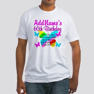 UPLIFTING 60TH Fitted T-Shirt