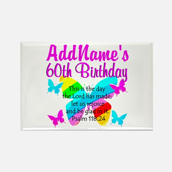 UPLIFTING 60TH Rectangle Magnet