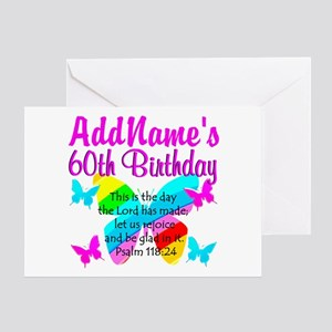 UPLIFTING 60TH Greeting Card