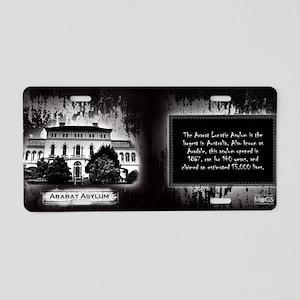 Ararat Lunatic Asylum Histo Aluminum License Plate