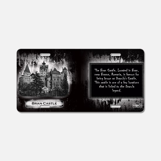 Bran Castle Historical Mug Aluminum License Plate