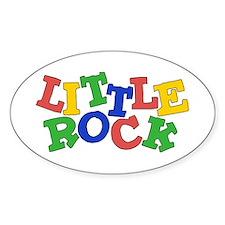 Little Rock (colors) Oval Sticker