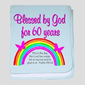 HEAVENLY 60TH baby blanket