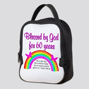 HEAVENLY 60TH Neoprene Lunch Bag