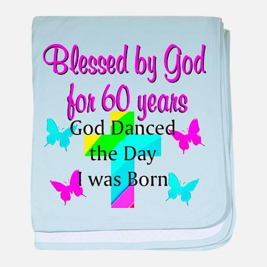 CHRISTIAN 60TH baby blanket