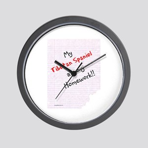 Tibbie Homework Wall Clock