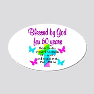 BLESSED 60TH 20x12 Oval Wall Decal