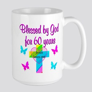 GOD LOVING 60TH Large Mug
