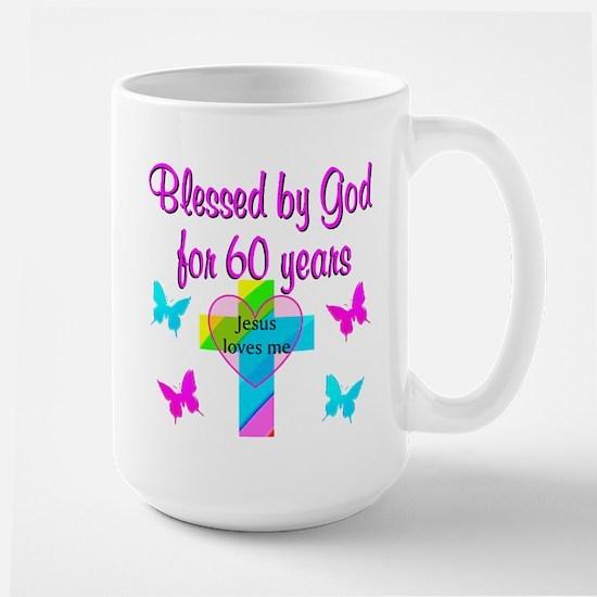 GOD LOVING 60TH Large Mug