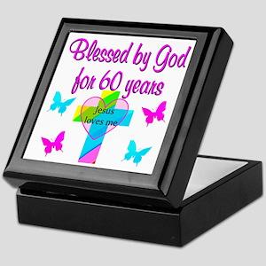 GOD LOVING 60TH Keepsake Box