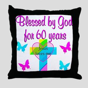 GOD LOVING 60TH Throw Pillow