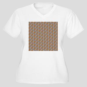 Sugar Skull Women's Plus Size V-Neck T-Shirt