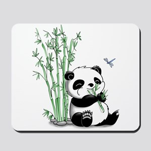 Panda Eating Bamboo Mousepad
