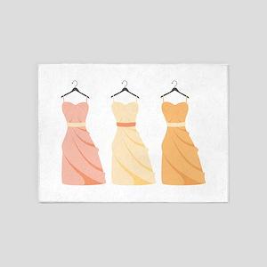Bridesmaids Dresses 5'x7'Area Rug