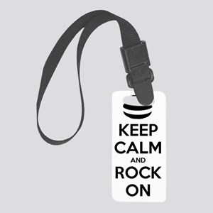 Keep Calm and Rock On - Curling Small Luggage Tag