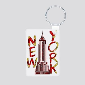 Empire State Building 2f Aluminum Photo Keychain