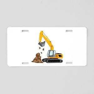 Excavator Aluminum License Plate