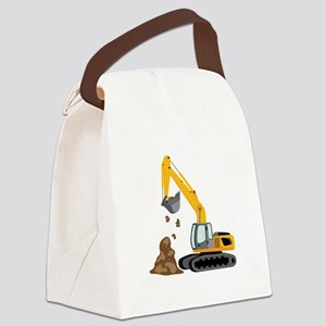 Excavator Canvas Lunch Bag