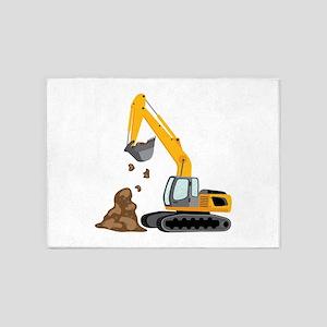 Excavator 5'x7'Area Rug