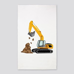 Excavator 3'x5' Area Rug