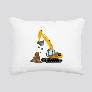 Excavator Rectangular Canvas Pillow