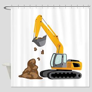 Construction Trucks Shower Curtains