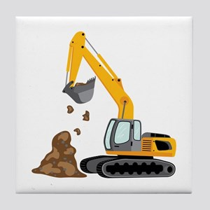Excavator Tile Coaster