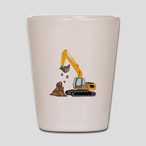 Excavator Shot Glass
