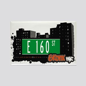 E 160 St, Bronx, NYC Rectangle Magnet
