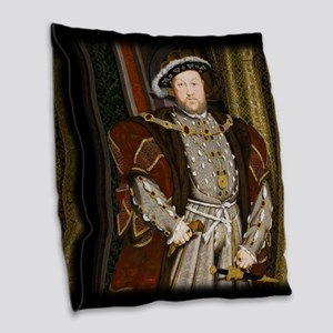 Henry VIII. Burlap Throw Pillow