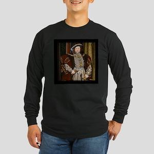 Henry VIII. Long Sleeve Dark T-Shirt