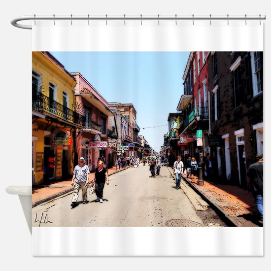 New Orleans Bourbon Shower Curtain