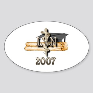 LVN Grad 2007 Oval Sticker